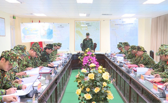 Bộ CHQS tỉnh luyện tập chuyển trạng thái sẵn sàng chiến đấu