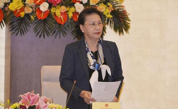 Chủ tịch Quốc hội chủ trì phiên họp thứ ba của Hội đồng Bầu cử quốc gia