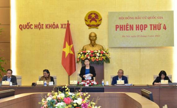 Chủ tịch Quốc hội Nguyễn Thị Kim Ngân chủ trì Phiên họp thứ tư của Hội đồng Bầu cử quốc gia