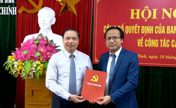 Công bố quyết định điều động, bổ nhiệm Phó trưởng Ban Nội chính Tỉnh ủy