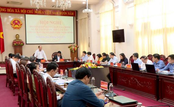 Đoàn giám sát của Ủy ban Tài chính - Ngân sách của Quốc hội làm việc với UBND tỉnh