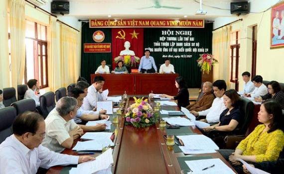 Hội nghị hiệp thương lần thứ hai thỏa thuận, lập danh sách sơ bộ những người ứng cử ĐBQH khóa XV
