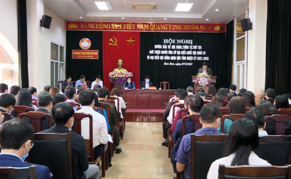 Hội nghị hướng dẫn quy trình giới thiệu ứng cử đại biểu Quốc hội khóa XV và đại biểu HĐND tỉnh