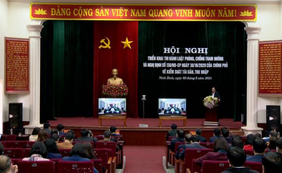Hội nghị trực tuyến triển khai thi hành các quy định của pháp luật phòng chống tham nhũng