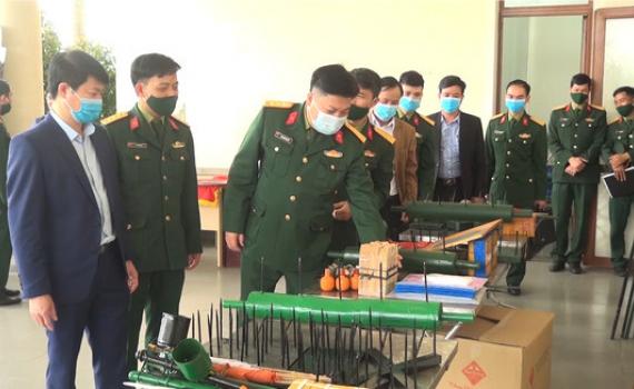 Kim Sơn huấn luyện lực lượng dân quân tự vệ năm 2021