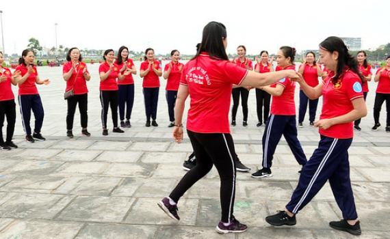 Lan tỏa phong trào nhảy Dân vũ thể thao trong hội viên phụ nữ