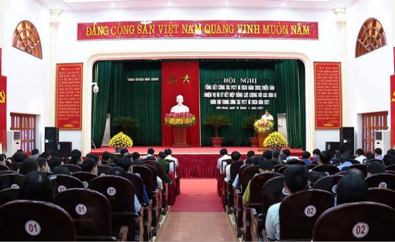 Nho Quan triển khai phương án phòng chống thiên tai năm 2021