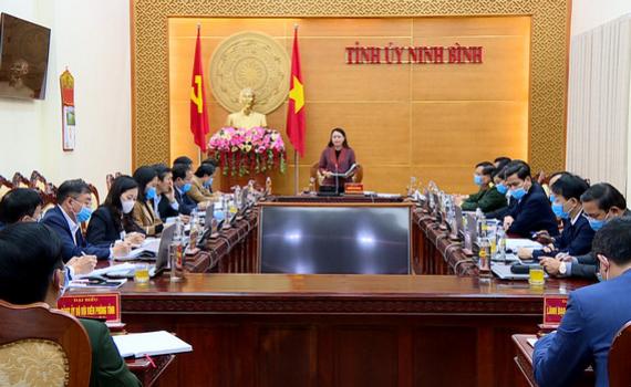 Thường trực Tỉnh ủy triển khai công tác tháng 3/2021