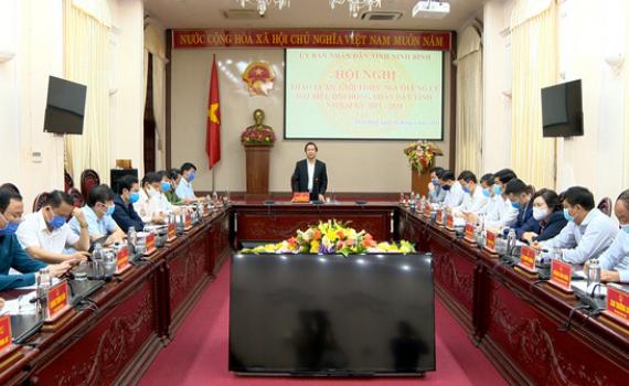 UBND tỉnh thảo luận, giới thiệu người ứng cử đại biểu HĐND tỉnh nhiệm kỳ 2021 - 2026