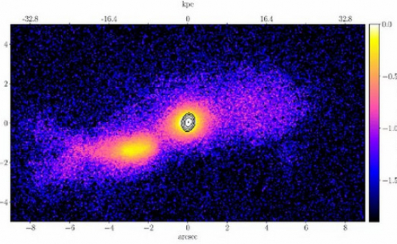 Bí ẩn về tia phát ra khi 2 thiên hà va chạm với nhau