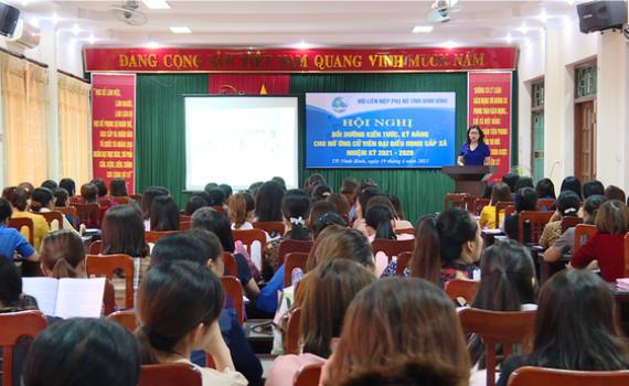 Bồi dưỡng kiến thức, kỹ năng cho nữ ứng cử viên đại biểu HĐND cấp xã