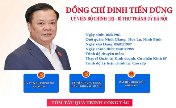 Infographic: Chân dung tân Bí thư Thành ủy Hà Nội Đinh Tiến Dũng