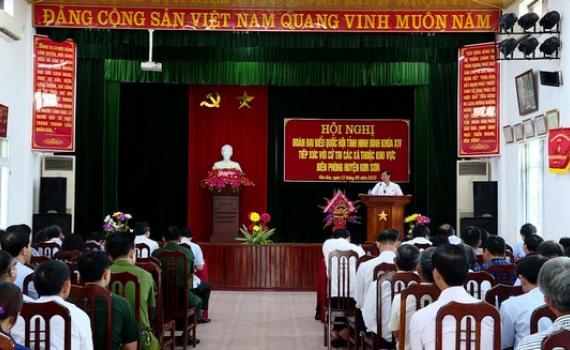 Đoàn ĐBQH tỉnh tiếp xúc cử tri khu vực Biên phòng huyện Kim Sơn