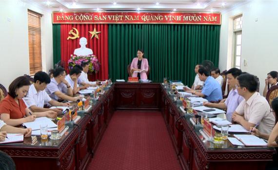 Thường trực Tỉnh ủy làm việc với BTV Thành ủy Tam Điệp