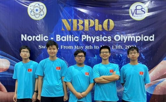 4 học sinh Hà Nội đoạt Huy chương Olympic Vật lý Bắc Âu - Baltic