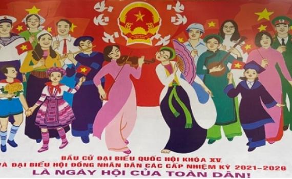 Tổ chức Hội thi tuyên truyền lưu động về bầu cử