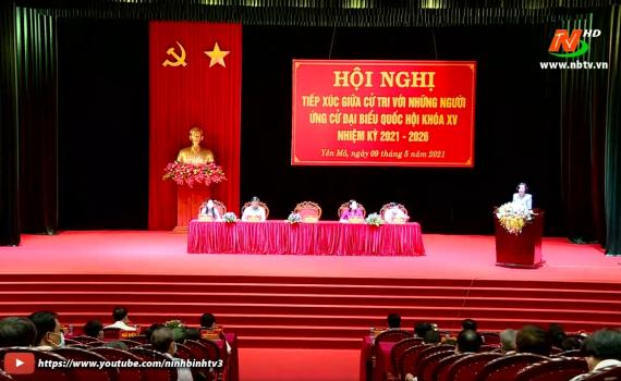 Ứng cử viên đại biểu Quốc hội khóa XV tiếp xúc cử tri huyện Yên Mô