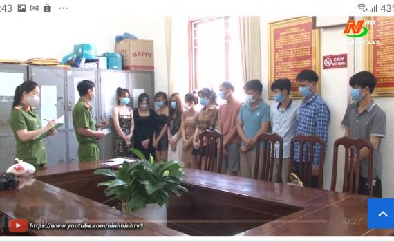 Xử phạt quán karaoke vi phạm quy định phòng chống dịch Covid-19 tại Yên Khánh