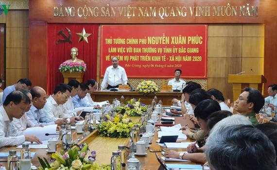 Thủ tướng: Bắc Giang cần tận dụng lợi thế vị trí, văn hóa để phát triển