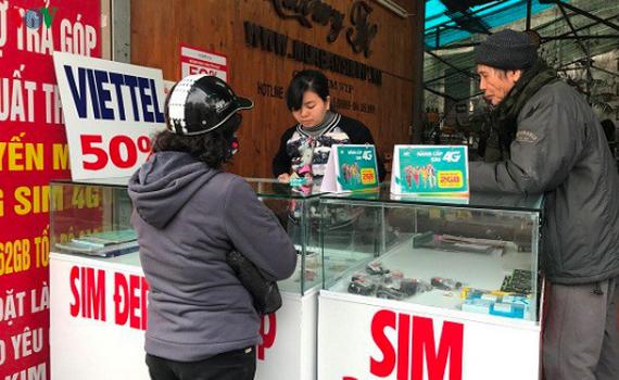 Tịch thu 6.900 SIM vi phạm của cả bốn nhà mạng