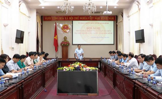Ban Tổ chức Đại hội thi đua yêu nước tỉnh Ninh Bình lần thứ V triển khai nhiệm vụ