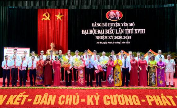 Đại hội đại biểu Đảng bộ huyện Yên Mô lần thứ XVIII thành công tốt đẹp