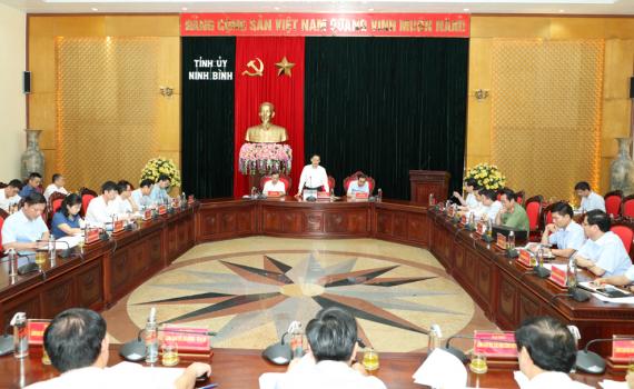 Đoàn công tác của Bộ Ngoại giao làm việc với Ban Thường vụ Tỉnh ủy