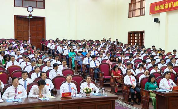 Phiên làm việc thứ nhất, Đại hội ĐB Đảng bộ Khối CQ&DN tỉnh, huyện Hoa Lư và Bộ đội Biên phòng tỉnh