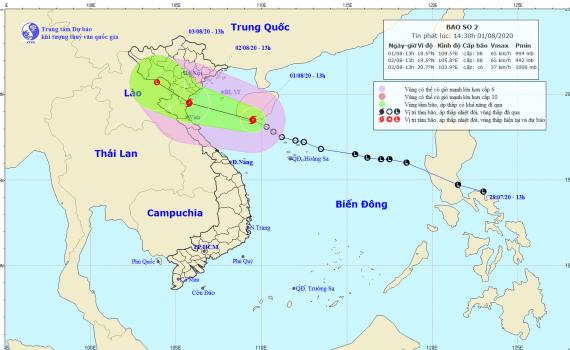 Công điện của Ban Chỉ huy Phòng chống thiên tai và TKCN tỉnh về ứng phó với bão số 02