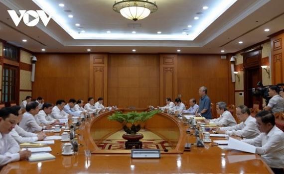 Bộ Chính trị tiếp tục làm việc về chuẩn bị Đại hội các Đảng bộ trực thuộc Trung ương