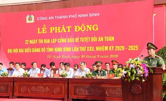 Công an TP Ninh Bình phát động ngày thi đua lập công