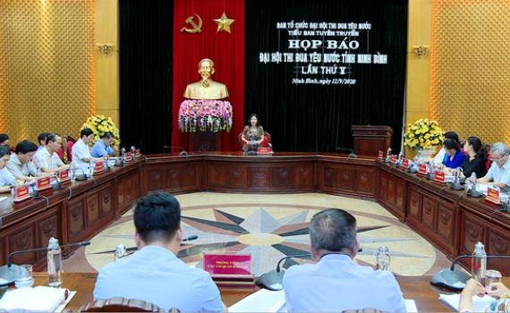 Họp báo thông tin về Đại hội thi đua yêu nước tỉnh Ninh Bình lần thứ V