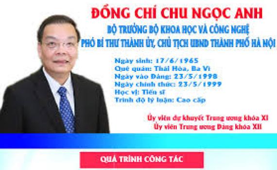 [Infographic] Chân dung tân Chủ tịch UBND TP. Hà Nội Chu Ngọc Anh