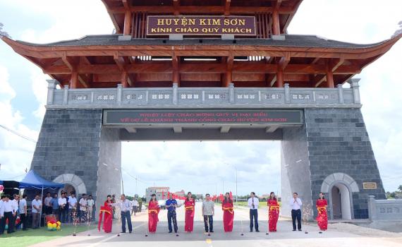 Khánh thành cổng chào huyện Kim Sơn