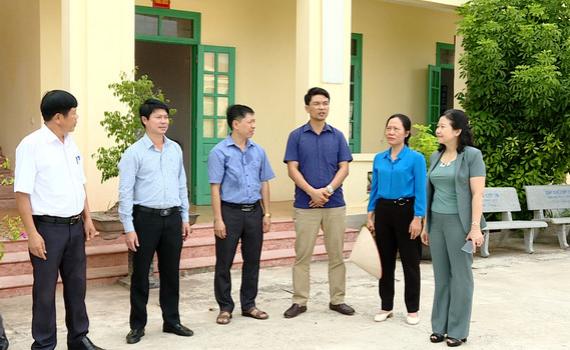 Kiểm tra xây dựng nông thôn mới tại huyện Kim Sơn