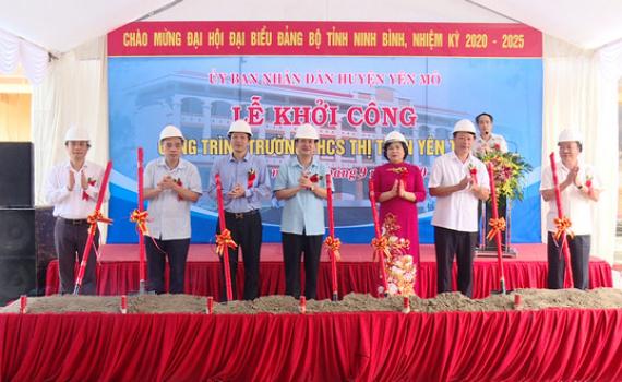 Lễ khởi công Trường THCS thị trấn Yên Thịnh