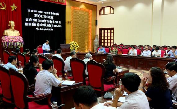 Sơ kết công tác tuyên truyền và phục vụ Đại hội Đảng bộ các cấp nhiệm kỳ 2020 -2025