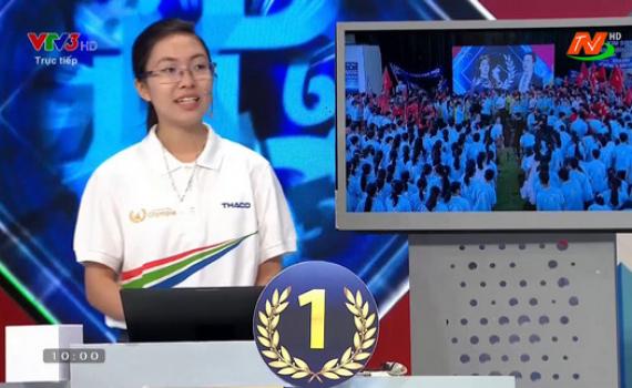 Thu Hằng giành 10 điểm phần thi Về đích - Trong trận chung kết Đường lên đỉnh Olympia năm 2020