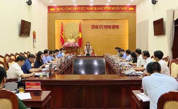 Thường trực Tỉnh ủy giao ban công tác tháng 8/2020