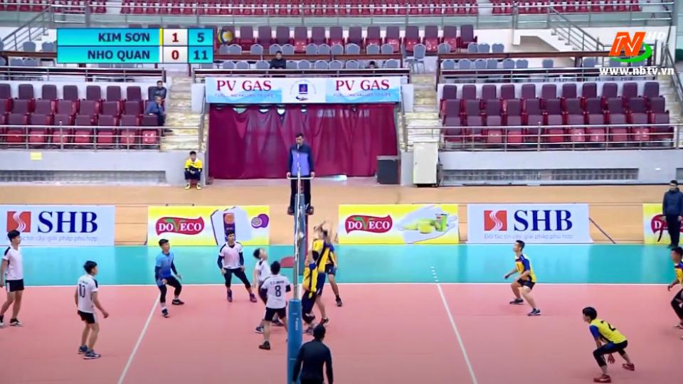 Chung kết: CLB huyện Nho Quan - CLB huyện Kim Sơn. Giải bóng chuyền nam Ninh Bình Cup Doveco 2020