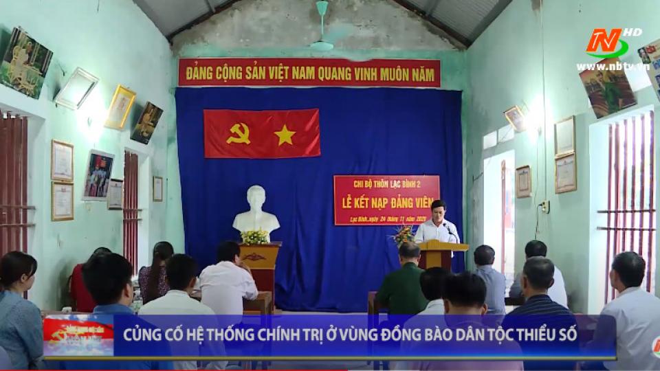 Đảng trong cuộc sống hôm nay: Tăng cường sự lãnh đạo của Đảng đối với đồng bào dân tộc thiểu số ở Nho quan
