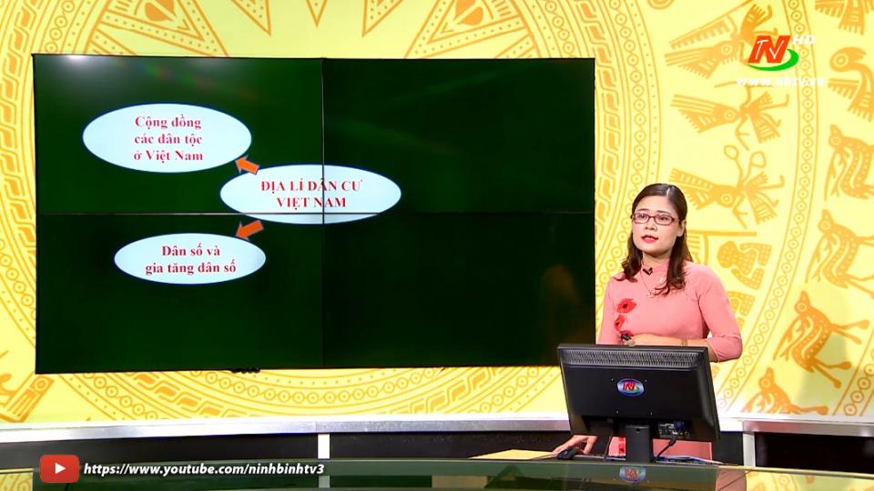 Môn Địa lý - Lớp 9: Ôn tập: Chủ đề Địa lý Dân cư (tiết 1)   Dạy học trên Truyền hình