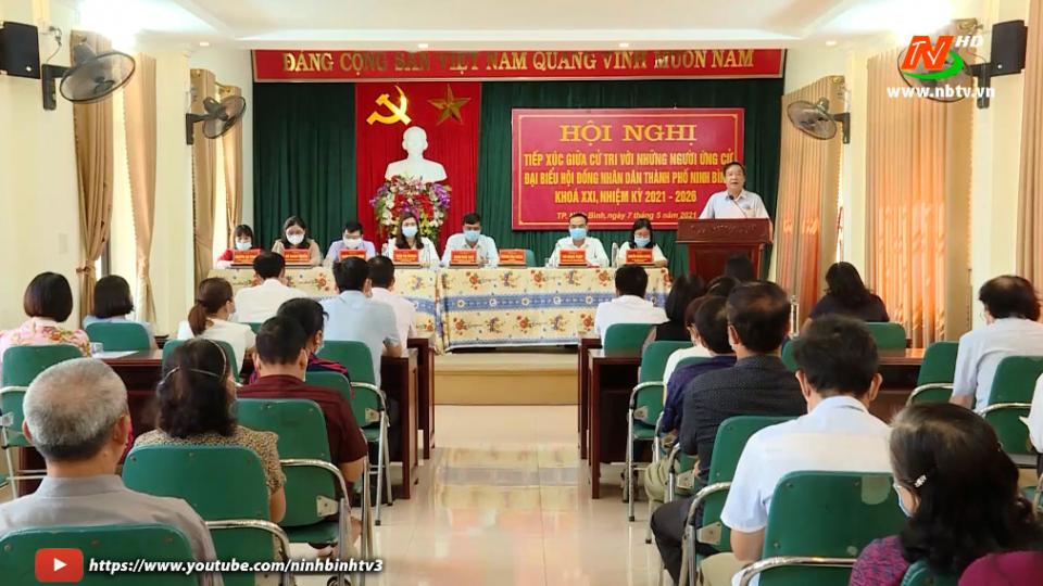 TH Thành phố Ninh Bình: Cử tri kỳ vọng vào những người ứng cử HĐND TP. Ninh Bình khóa mới.