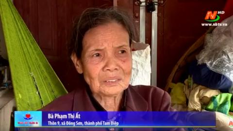 Vòng tay nhân ái: Hỗ trợ gia đình bà Phạm Thị Ất, xã Đông Sơn, thành phố Tam Điệp