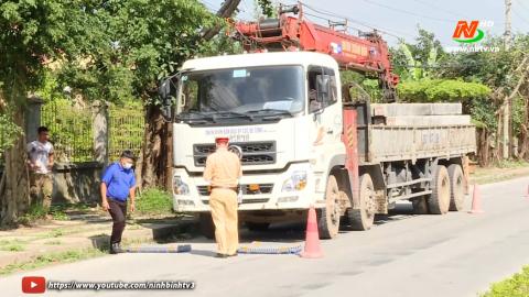 ATGT vì bình an cuộc sống: Thành phố Ninh Bình xử lý vi phạm tải trọng