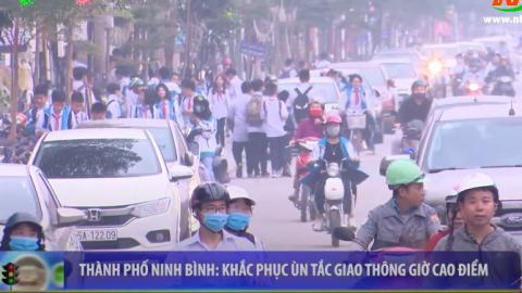 ATGT vì bình yên cuộc sống: Thành phố Ninh Bình khắc phục ùn tắc giao thông giờ cao điểm