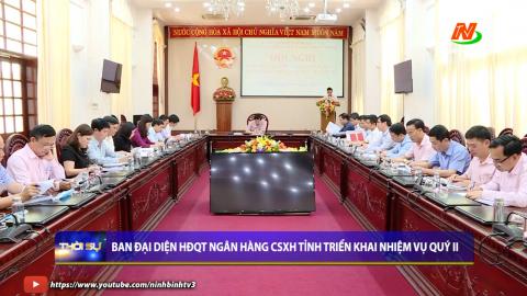 Ban đại diện HĐQT Ngân hàng CSXH tỉnh triển khai nhiệm vụ quý II