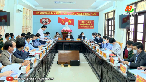 Ban Thường vụ Tỉnh ủy làm việc với BTV Huyện ủy Nho Quan
