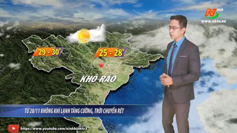 Bản tin Dự báo thời tiết mới nhất ngày - 27/11/2020
