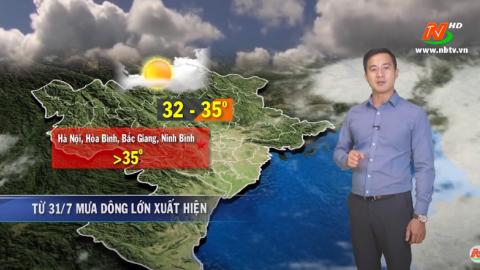 Bản tin Dự báo thời tiết mới nhất ngày - 30/07/2020